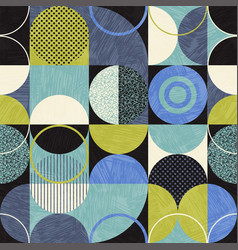 Bauhaus seamless abstract modern pattern vector