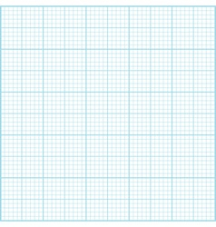 Blue millimeter paper background Square grid backg vector image