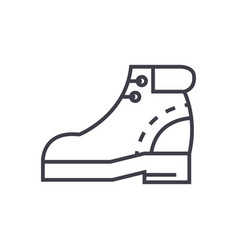 Boots sign line icon sign on vector