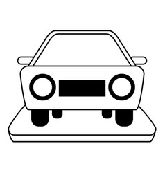 Car frontview icon imag vector