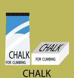 Chalk climbing icon vector