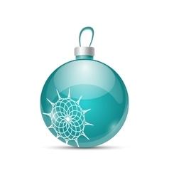 Christmas color ball vector image