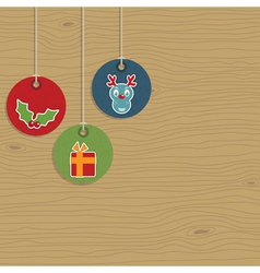 christmas party hanging tags vector image