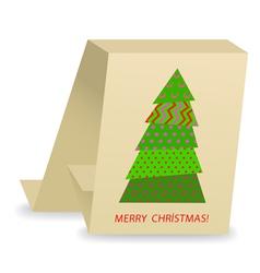 christmas tree 3 vector image