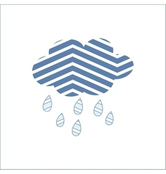 Cloud Rain Meteorology Season Sky Symbol vector image