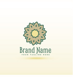 creative flower style logo concept design vector image