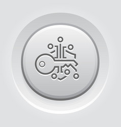 Crypto key management button icon vector