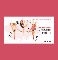 dancer web page ballerina woman character vector image