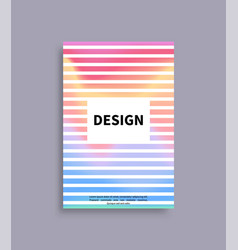design brochure mockup with spare frame for text vector image