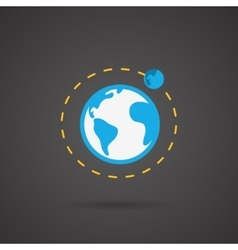 Earth orbit Earth icon vector image