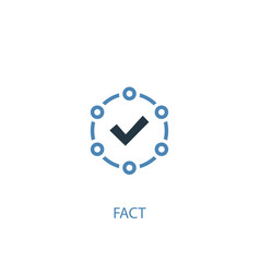 Fact concept 2 colored icon simple blue element vector