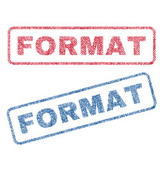 Format textile stamps vector