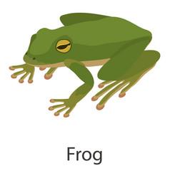 frog icon isometric style vector image
