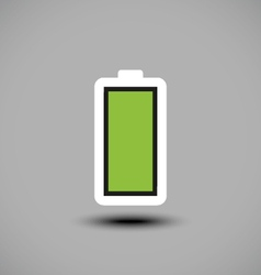 Fully charged green battery icon vector image
