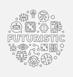 Futuristic round concept in vector