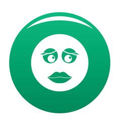 girl smile icon green vector image