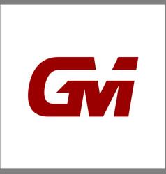 gm letter logo initials logo designs vector image
