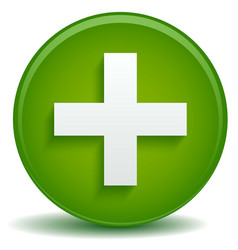 Green cross concept for health care first aid vector
