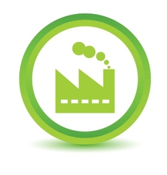 Green factory icon vector