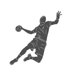 Handball player abstract vector