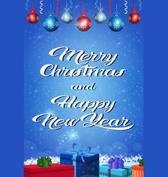 happy new year merry christmas concept gift box vector image