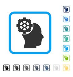 head gear framed icon vector image
