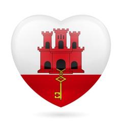 Heart icon of Gibraltar vector