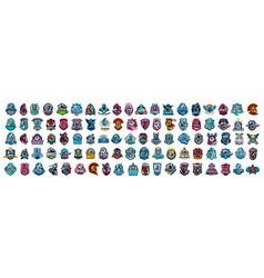 huge set colorful sports logos emblems logos vector image