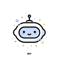 icon cute virtual robot artificial intelligence vector image