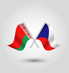 Icon of czech republic and belarus vector