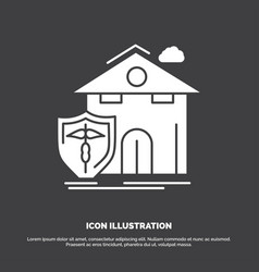 Insurance home house casualty protection icon vector