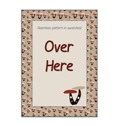 Invitation postcard Mushroom from Wonderland vector image