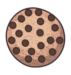 Isolated coockie of bakery design vector