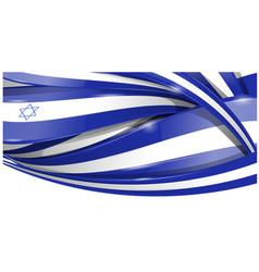 israel horizontal background flag vetcor vector image
