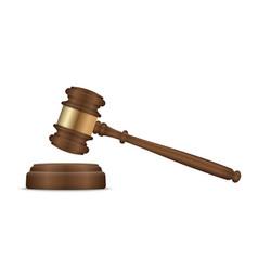 judge gavel and soundboard vector image