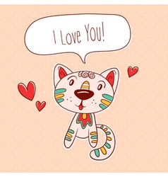 Kitty in love vector image
