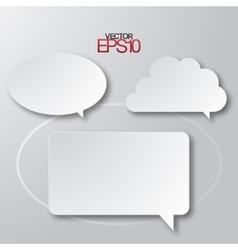Modern flat design speech bubbles vector image