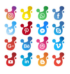 modern social media icon vector image