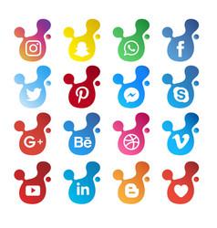 Modern social media icon vector