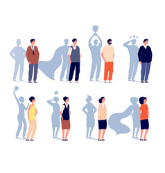 motivation leader superhero shadow business vector image