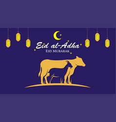 muslim holiday eid al-adha graphic design for vector image