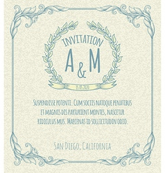 page decoration template vintage frame vector image