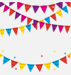 party background with flags vector image