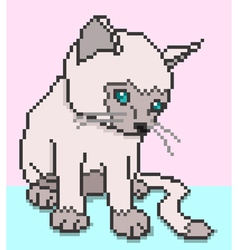 pixel kitty vector image