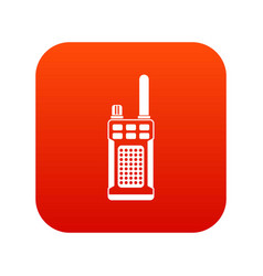 Portable handheld radio icon digital red vector