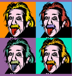 portrait albert einstein physicist chemist vector image