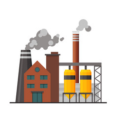 power chemical or refinery plant industrial vector image