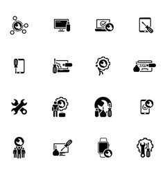 repair service and maintenance icons set vector image