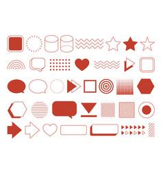 retro design element geometric shapes set vintage vector image