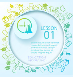 school education infographics vector image